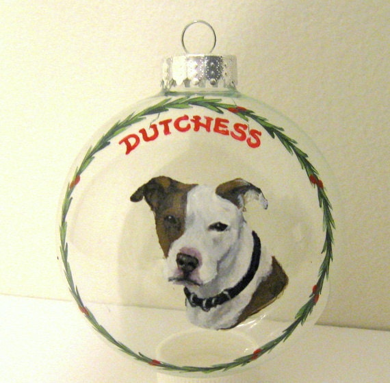 Custom Dog Ornament Siberian Husky Pet Memorial from a Photo of Your Dog Large Glass 4 Portrait Christmas Ball