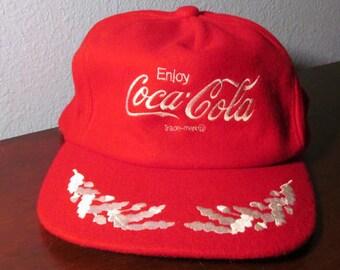 Vintage Wool Coca Cola Cap with Slide Adjustment for Fitting 10588ff80135
