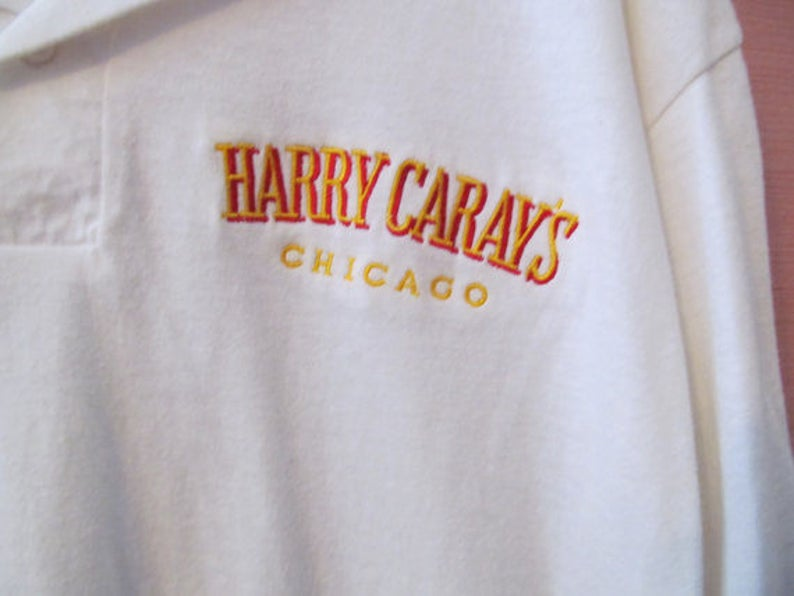 Vintage Harry Caray/'s Chicago Polo Shirt from his Restaurant in Downtown Chicago