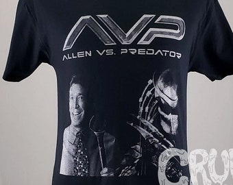Allen Vs Predator Home Improvement Horror Parody T-shirt