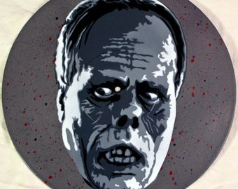 Phantom of the Opera Spray Paint and Stencil Vinyl Record Art