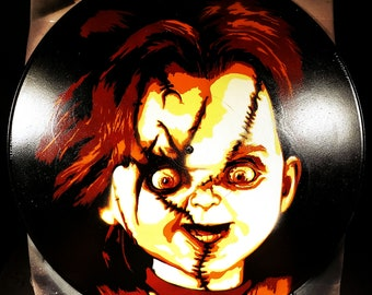 Chucky Child's Play Bride of Chucky Spray Paint and Stencil Artwork