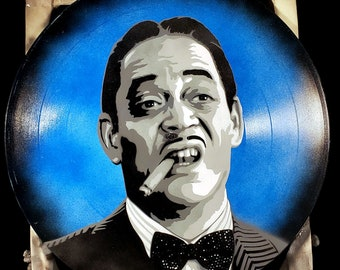 Gomez Addams The Addams Family Spray Paint and Stencil Vinyl Record Art