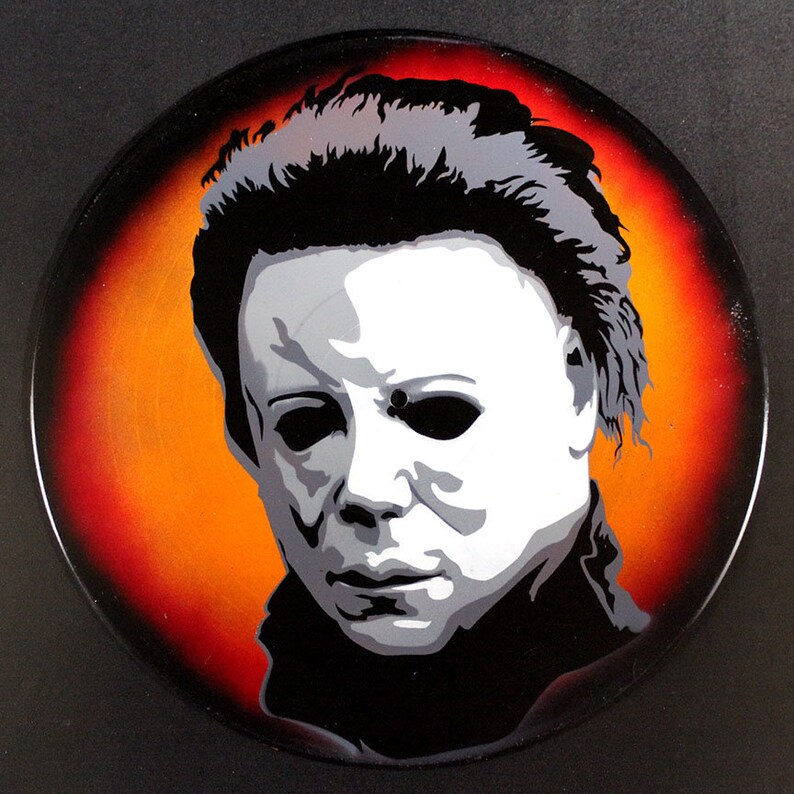 b56ff5bd5b99 Michael Myers Halloween Spray Paint and Stencil Vinyl Record