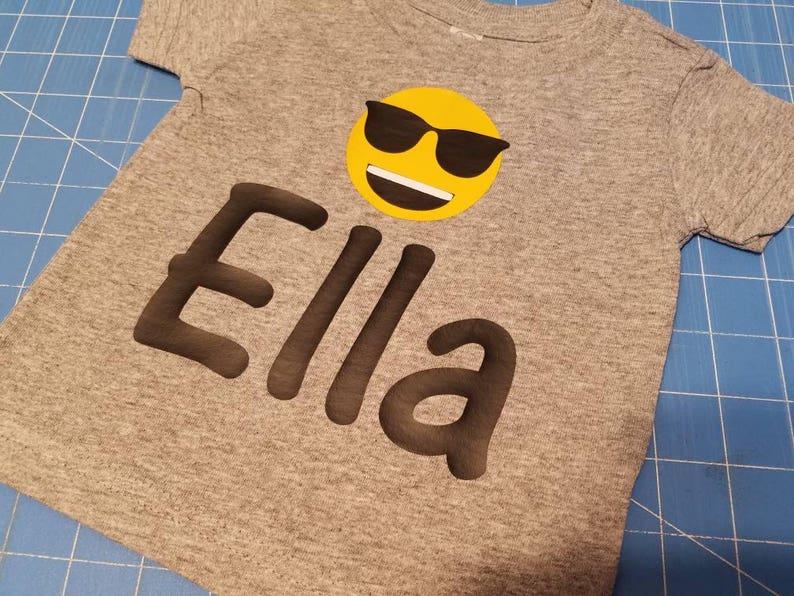 5956dd08 Custom emoji tshirt with NAME emoji birthday shirt   Etsy