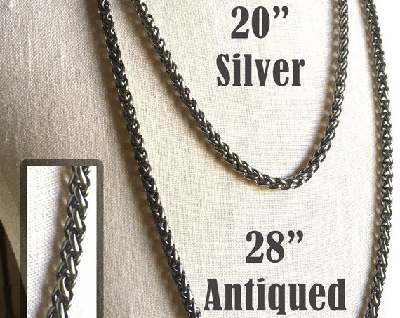 Premium Stainless Steel Wheat style chain