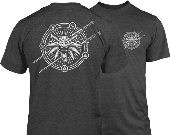 Witcher White Wolf Playing Card T-Shirt