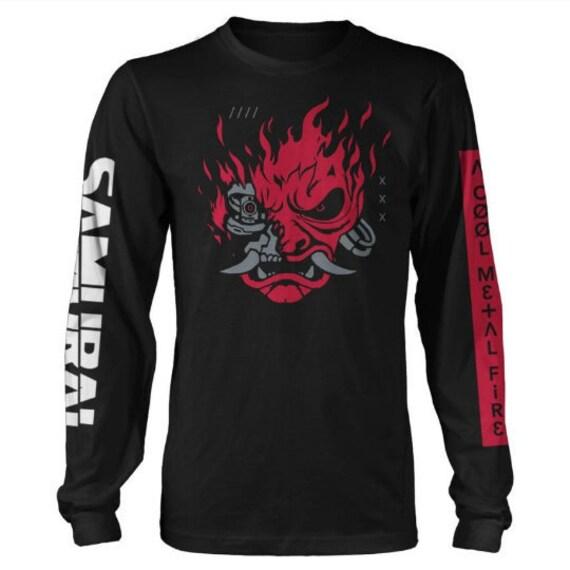 Cyberpunk 2077 Samurai Long Sleeved licensed  T-shirt