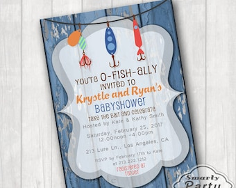 Fishing baby shower invitation baby shower invite fishing baby fishing baby shower invitations o fish ally invited invite printable personalized blue lures 5x7 or 4x6 filmwisefo