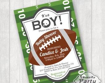Football Baby Shower Invitations Etsy