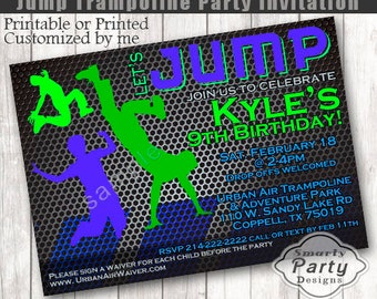 Best Selling Jump Birthday Invitation | Bounce House Birthday Boy | Trampoline Party Invite | Printable or Printed 4 x 6 or 5 x 7