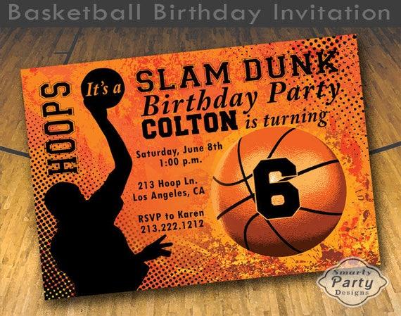Basketball Slam Dunk Personnalisées Carte D/'Anniversaire