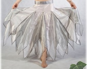 Bridal Faery Skirt - XS size 0 - Isis - Ivory & silver