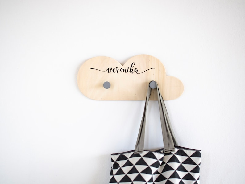 Personalized Clothes hooks for kids image 0