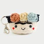 Crochet Coin Purse | Frida Kalho No.1, Coin Pouch, Crochet, Cutebag