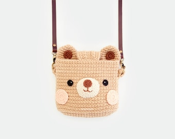 Crochet Fuji Instax Case - Bear Cutie Animal   mini 90, 70, 40, 11, 25, 9, 8, polaroid camera