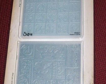 SIZZIX Tim Holtz Alterations 2 Embossing Folders CATTAILS /& PUMPKIN PATCH SET A2