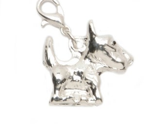 91d9558ad ... italy yorkie dog charms lobster clasp charm cute little silver dog  3d063 31c23
