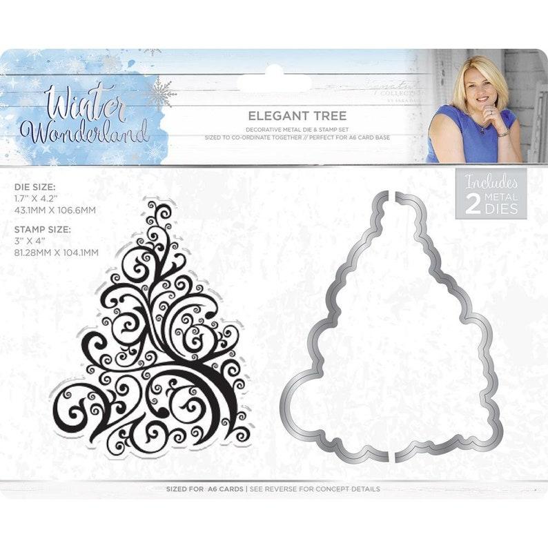 New ! SARA DAVIEs ELEGANT TREE  from Winter Wonderland  Collection by Sara Davies Stamp and Dies set