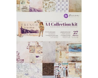FRENCH RIVIERA by PRIMA A4 Collection Kit -  27 Pages of Vintage Fun !