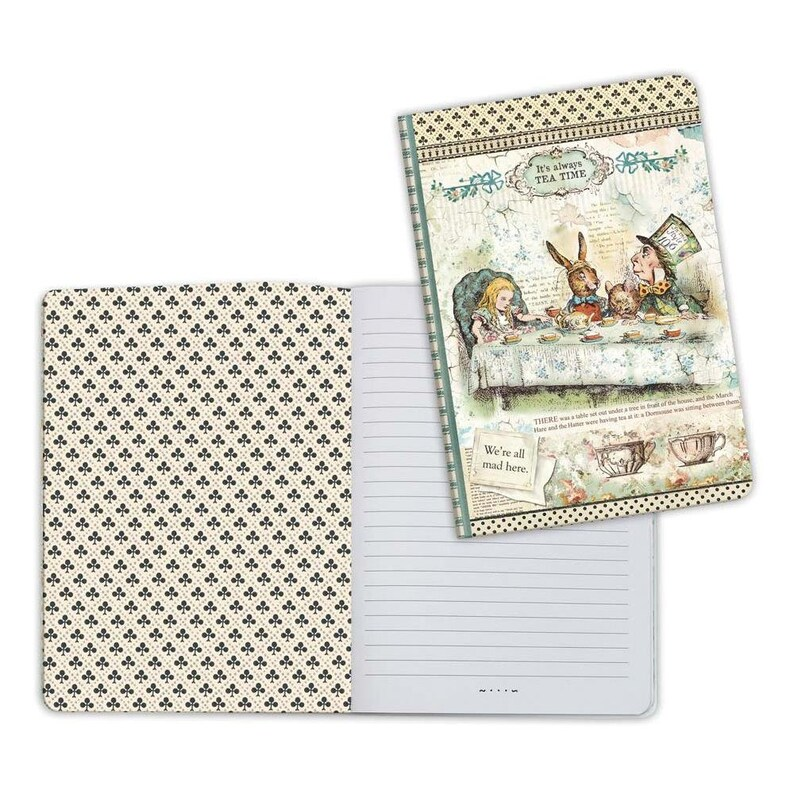 NOTEBOOK  MAD HATTeR Tea Party from ALICE in WONDERLaND by image 0