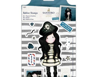 PIRACY - GORJUSS GIRL Set by SANtORO - Regular sized GORJuSS GIRLs Stamps !! New !!