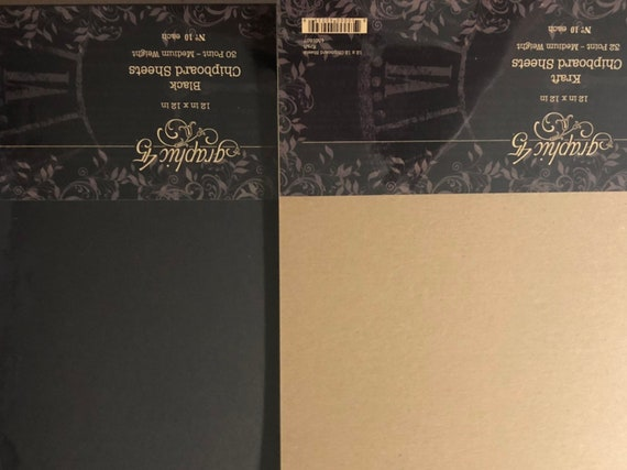 Graphic 45 4501807 Kraft 12x12 Sheets Chipboard, 10 Pack