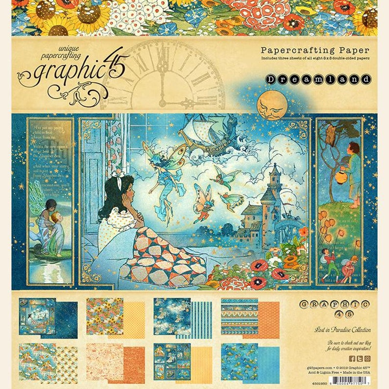 DREAMLAND by GRAPHiC 45   12x12 Paper Pad with Sticker Sheet image 0