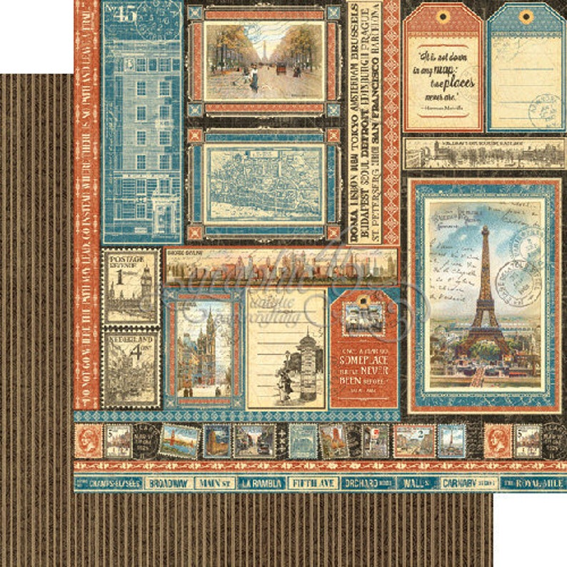 CITYSCAPES ReTIRED !! GRAPHiC 45 Paper Pad 12x12  Brand New- VICTORiAN style BIG CITIES  THeME
