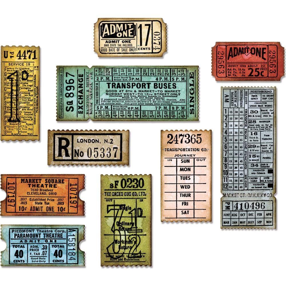 Billetterie par Tim HOLTZ - matrices cartes seulement faire cartes matrices et cadeaux - SiZZIX de Tim Holtz 518553