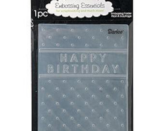 DARICE - EMBOSSiNG FoLDER - HAPPY BIRTHDAY with DoTS - - Soooooo CuTE - A2 SiZE