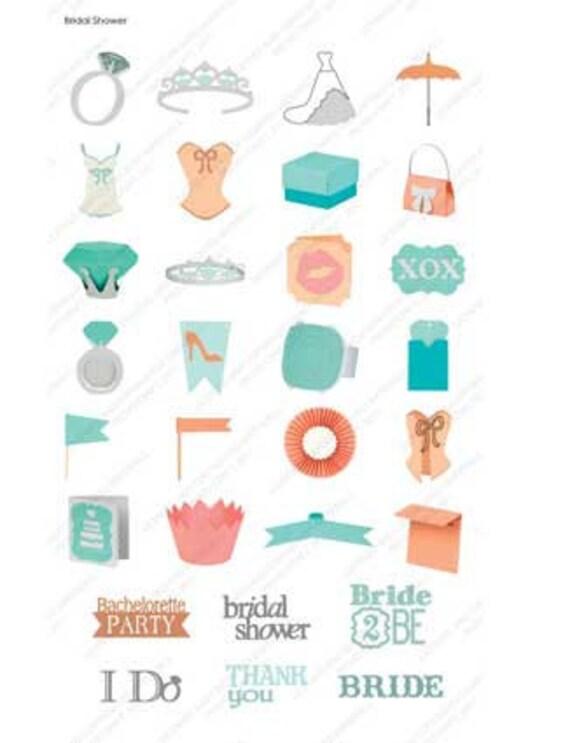 BRIDAL SHOWER - Cricut les cartouche - neuf et scellé! Tas d'Images pour les Cricut mariages et les épouses!! 5c1b19