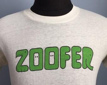 80s Vintage Zoofer New York Zoological Society zoo T-Shirt - MEDIUM