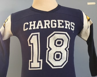 80s Vintage Charlie Joiner  18 San Diego Chargers nfl football Rawlings  jersey T-Shirt - XS X-SMALL fb9d70a16