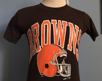 80s Vintage Cleveland Browns nfl football T-Shirt - SMALL 22c6f6ee2