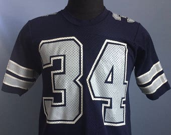 8159a26d9b7 80s Vintage Herschel Walker #34 Dallas Cowboys NFL football Sand-Knit jersey  T-Shirt - MEDIUM