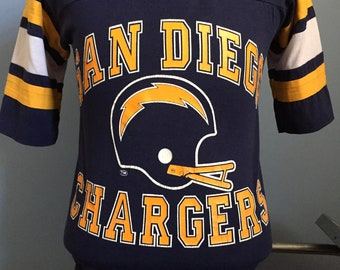 80s Vintage San Diego Chargers nfl football T-Shirt - SMALL 285a6d66c