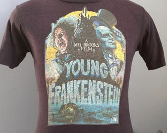 70s Vintage Young Frankenstein 1974 movie promo Mel Brooks Gene Wilder T-Shirt - SMALL