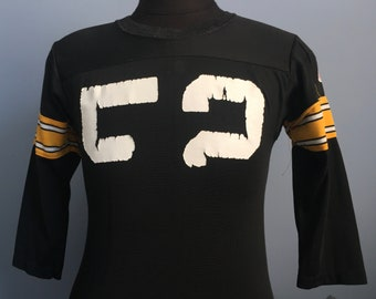 70s Vintage Mike Webster  52 Pittsburgh Steelers NFL football Rawlings  Jersey T-Shirt - SMALL 9ed723487