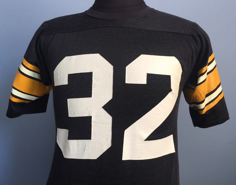 differently f64b6 cab3d 70s 80s Vintage Pittsburgh Steelers #32 Franco Harris nfl football Jersey  T-Shirt - SMALL