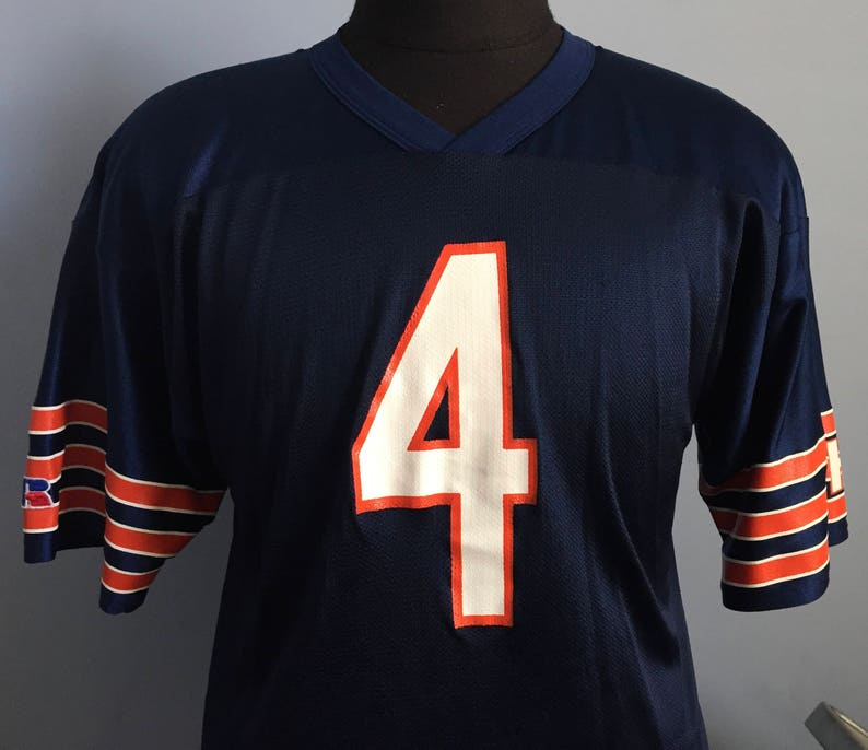185fcfe30ff 90s Vintage Jim Harbaugh 4 Chicago Bears GSH nfl football | Etsy