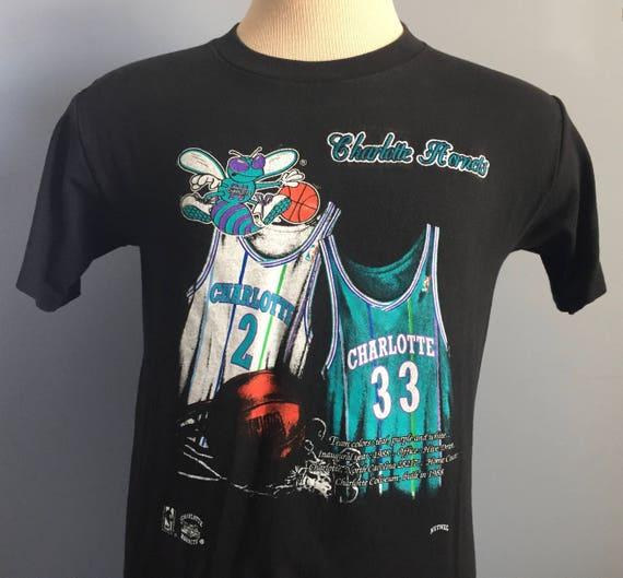 90s Vintage Charlotte Hornets Larry Johnson 2 Alonzo Mourning  69d460342
