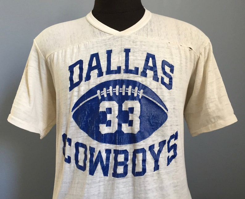 huge discount 75bf0 8be33 80s Vintage Tony Dorsett #33 Dallas Cowboys nfl football Rawlings Jersey  T-Shirt - XL X-LARGE