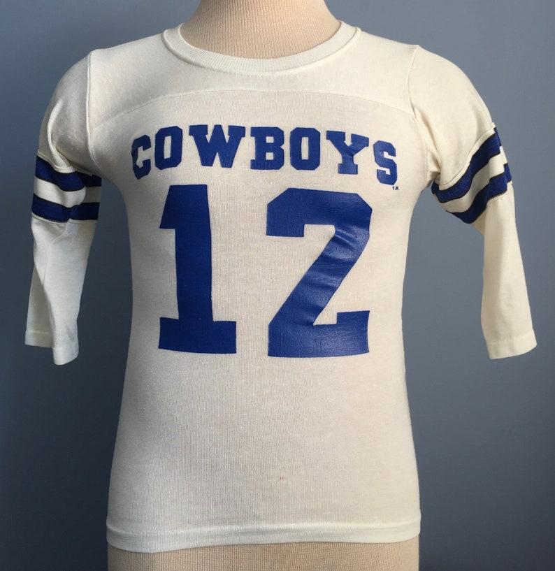 brand new b0c77 6bf62 70s 80s Vintage Roger Staubach #12 Dallas Cowboys Rawlings Jersey nfl  football T-Shirt - XS X-SMALL