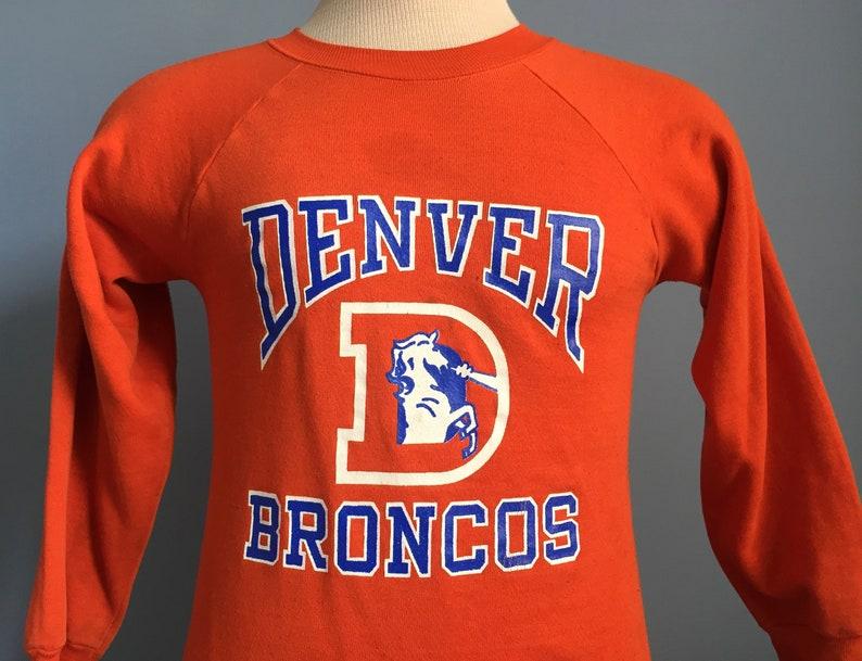 836a1d72 80s Vintage Denver Broncos NFL football Sweatshirt - XS X-SMALL