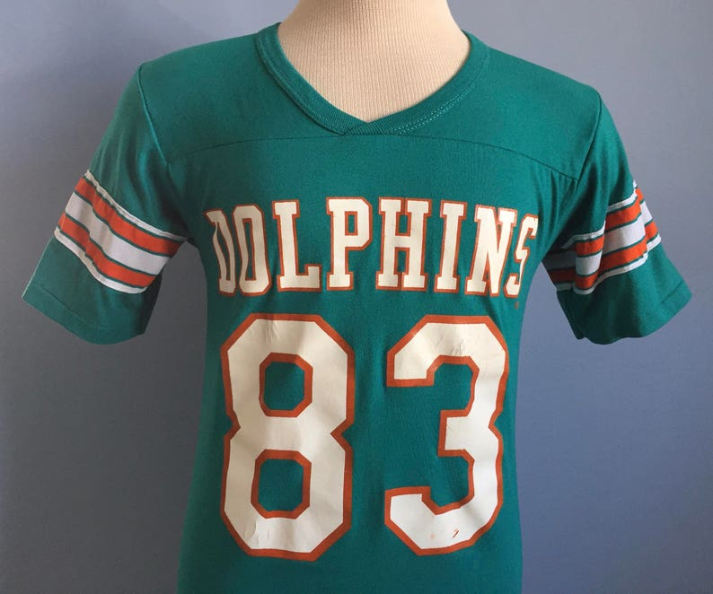 promo code e435b 4e5f0 80s Vintage Mark Clayton #83 Miami Dolphins nfl football Rawlings jersey  T-Shirt - SMALL