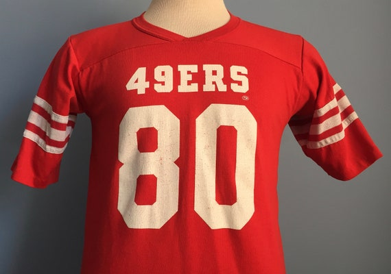 61b792322 80s Vintage Jerry Rice 80 San Francisco 49ers nfl football