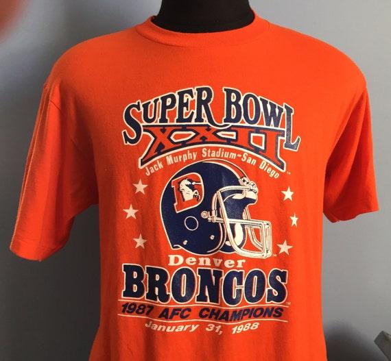 c2c437298 80s Vintage Denver Broncos Super Bowl XXII 1987 nfl football