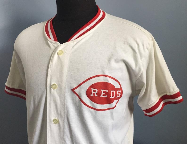 5542f3b38 80s Vintage Cincinnati Reds mlb baseball Rawlings Jersey