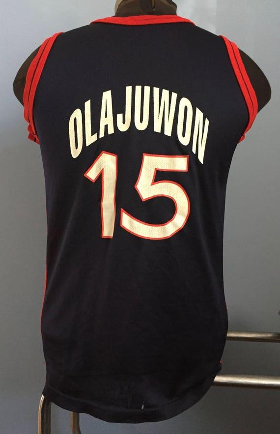 90s Vintage Hakeem Olajuwon 15 USA 1996 Summer Olympics  a5e50f60a